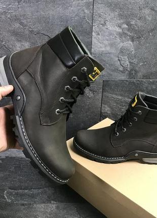 Мужские зимние ботинки , натуральная кожа!
