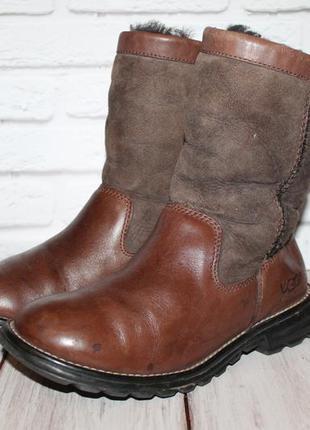 Кожаные сапоги ugg 36-37 размер