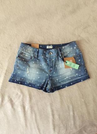 Не mango шорты zara ovs мини шорты джинсовые в звездочку принт...
