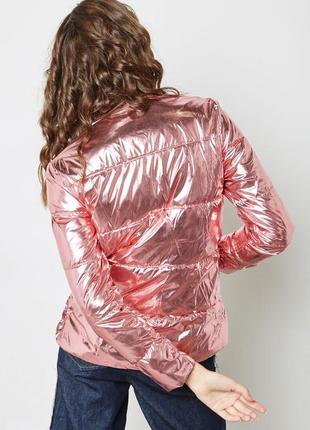 Пуховик mango куртка зефирка розовая металлик куртка короткий ...