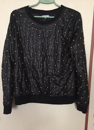 Свитшот zara свитер черный
