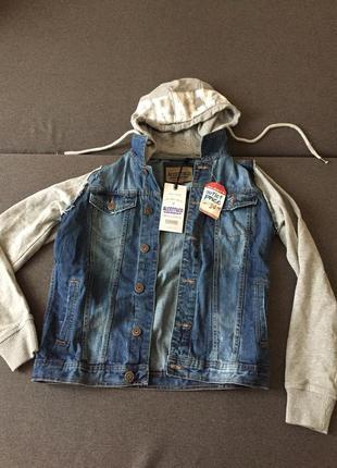 Джинсовая куртка унисекс на мальчика/девочку парня/девушку