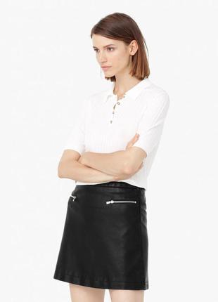 В стиле zara юбка mango мини кожаная юбка с молниями