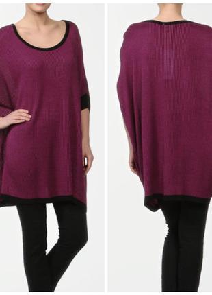 Батал туника vila свитер оверсайз блуза большого размера