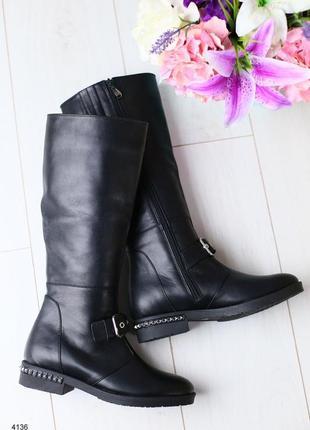Lux обувь! натуральные кожаные зимние/демисезонные женские сапоги