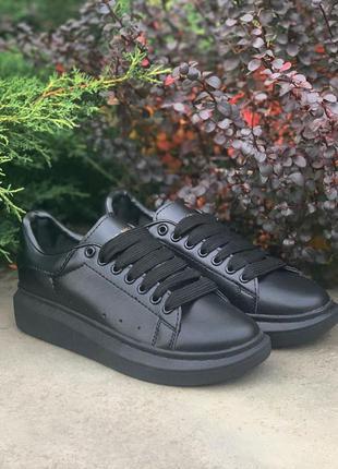 Кроссовки alexander mcqueen oversized sneakers all black