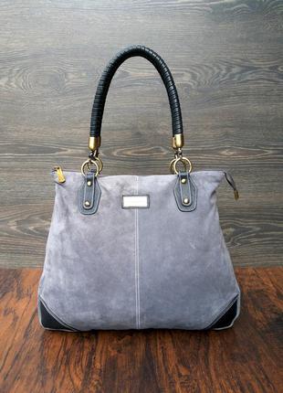 Jimmy choo замшевая кожаная сумка стильная большая и вместител...