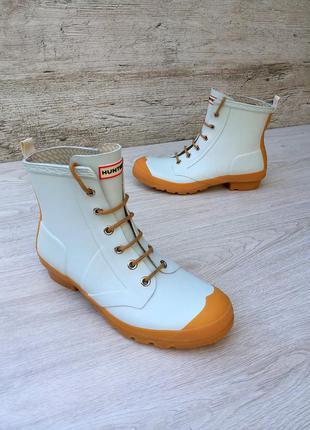 Hunter женские резиновые ботинки  / сапоги 100% оригинал велик...