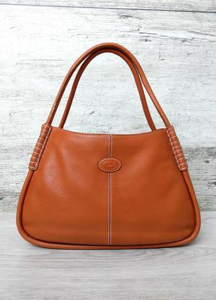Tod's кожаная сумка 100% натуральная кожа tods