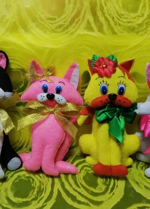 Кошечки из фетра мягкие игрушки