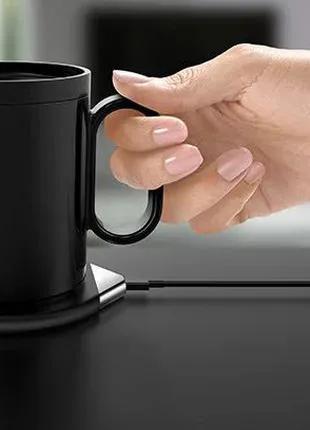 Чашка с поддержкой температуры зарядным устройством для мобильно