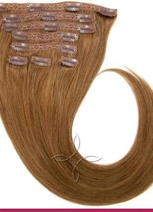 Волосся на кліпсах європейське 50 см 100 грам, Русявий №08