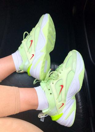 Женские кроссовки nike m2k neon green