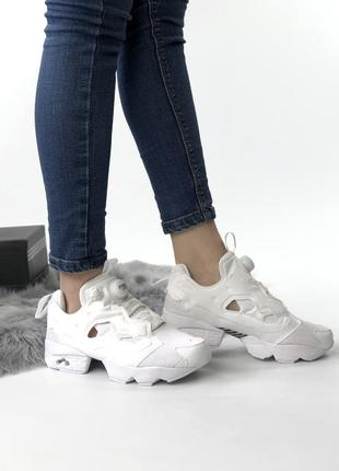 Кроссовки женские reebok insta pump white