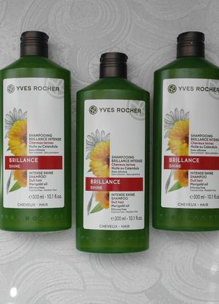 Шампунь для блеска волос с календулой  ив роше yves rocher