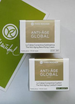 Крем от морщин (30+) anti-age global анти-аж глобаль ив роше