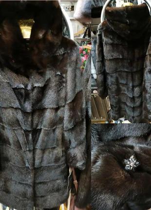 Скандинавская норковая шуба 100 см