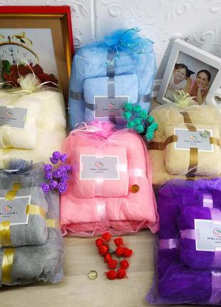 Подарочный набор полотенец mallory из микрофибры баня + кухня