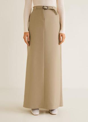 Длинная юбка mango на высокую девушку