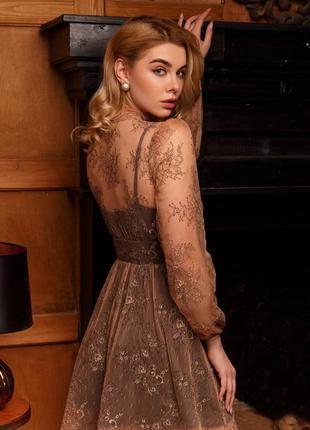 Платье в ретро стиле бежевое new🔥