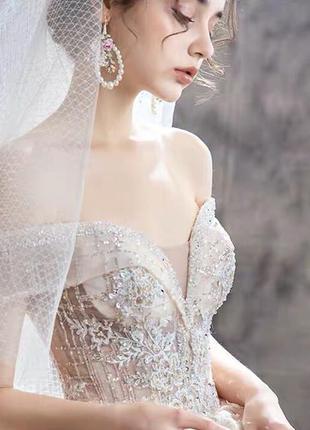 Роскошное свадебное пышное платье