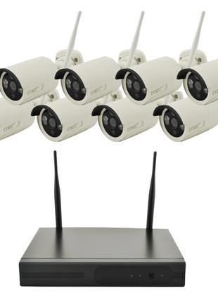 8 камер Комплект видеонаблюдения DVR KIT CAD 8008 WiFi 8ch