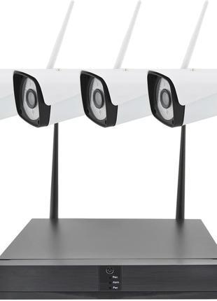 4 камеры Комплект видеонаблюдения беспроводной DVR Full HD