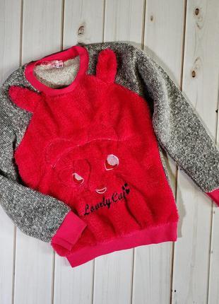 Красивый теплый детский свитер, свитшот, джемпер,очень мягкий ...
