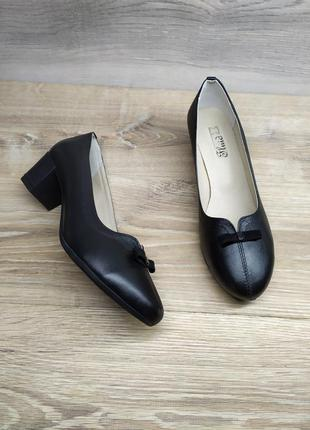 Кожаные туфли на каблуке, туфли лодочки, лодочки на каблуке