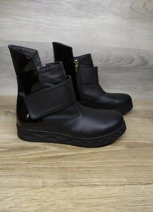 Кожаные зимние ботинки , 37 38  размера  , кожаные ботинки , ш...