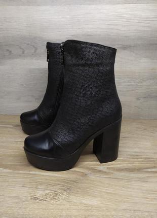 Кожаные ботинки женские , 37 размер , демисезонные ботинки / ш...