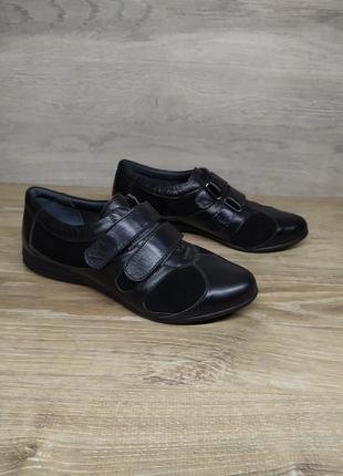 Кожаные туфли женские , 37 размер , кожаные мокасины / шкіряні...