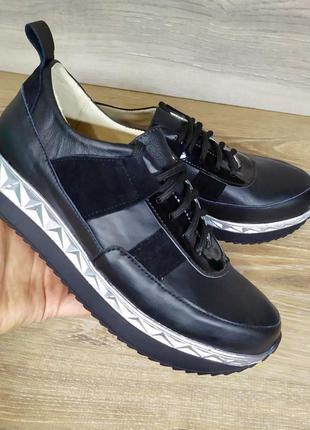 Женские кожаные кроссовки   37 39 40 размера , натуральная кожа