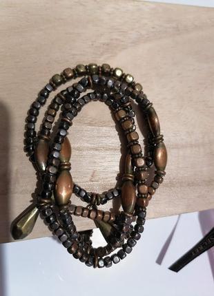 Набор стильных браслетов, металл.4 шт.