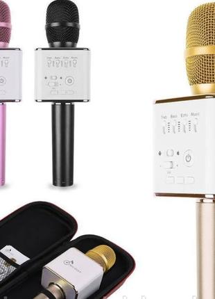 Микрофон для караоке Q9 Микрофон-колонка bluetooth