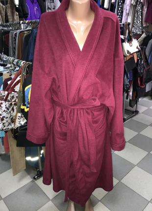 Тёплый флисовый халат большого размера