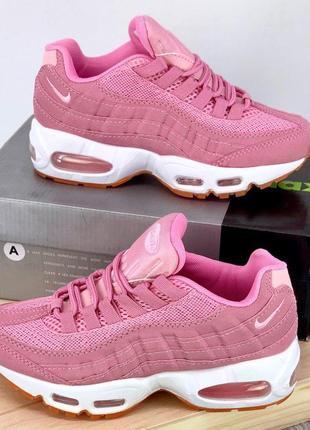 Кроссовки женские air max 95 pink