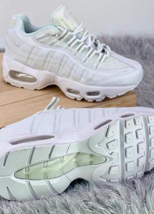 Кроссовки air max 95 all white
