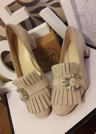 Замшевые туфли nine west
