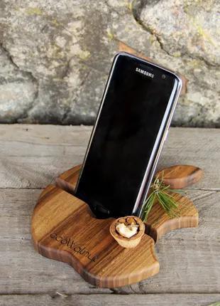 Настольный органайзер подставка для смартфона в подарок на юбилей