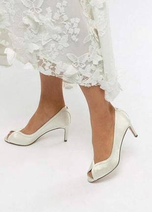 Туфли лодочки с открытым носком асос asos