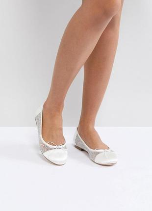 Нежные балетки туфли с камнями асос asos bridal