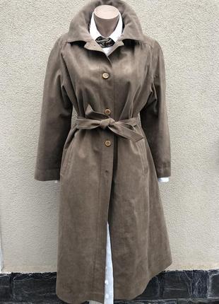 Винтаж,замшевое пальто,плащ,тренч на подстежке,alcantara,итали...