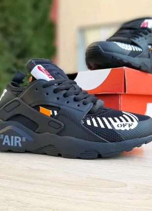 Кроссовки женские Nike Huarache x OFF White черные. Артикул 2967.