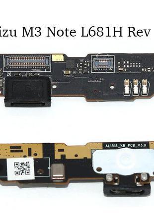 Нижняя плата Meizu M3 Note L681H с разъемом зарядки