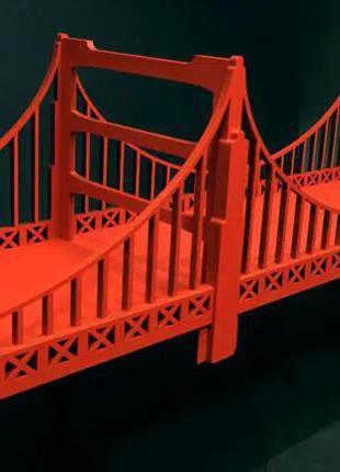 Полка декоративная, интерьерная. Бруклинский мост.