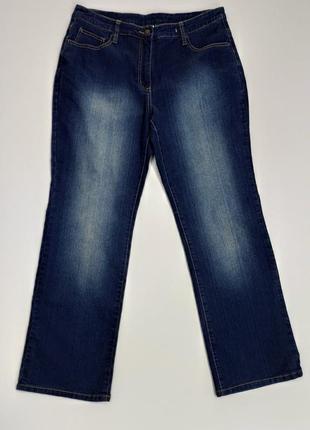 Женские эластичные прямые джинсы размер 50-52