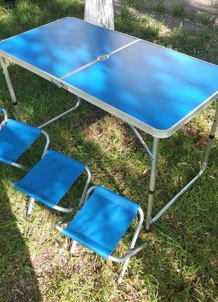 Раскладной стол складной стол чемодан для пикника и 4 стула