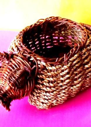 Оригинальная шкатулка плетенная из лозы ручной работы 🎁 идеаль...