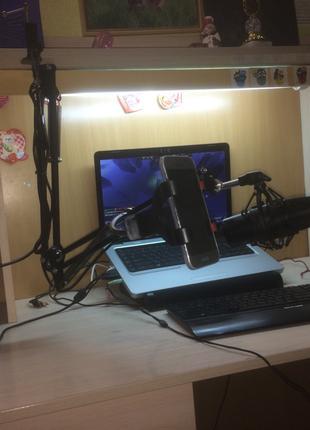 Стойка для микрофона Мобильная студия звукозаписи Remax Mobile Re